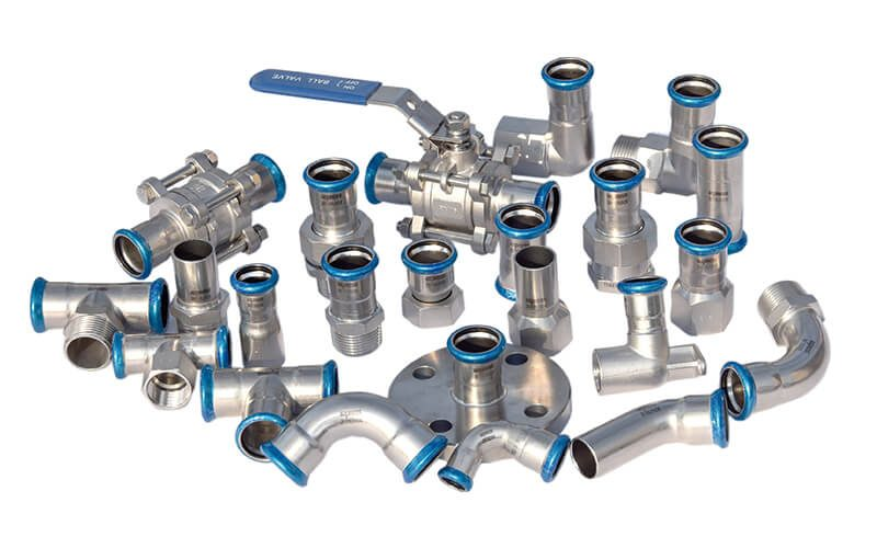 Stainless steel press fittings manufacturer and supplier in china by dunshan